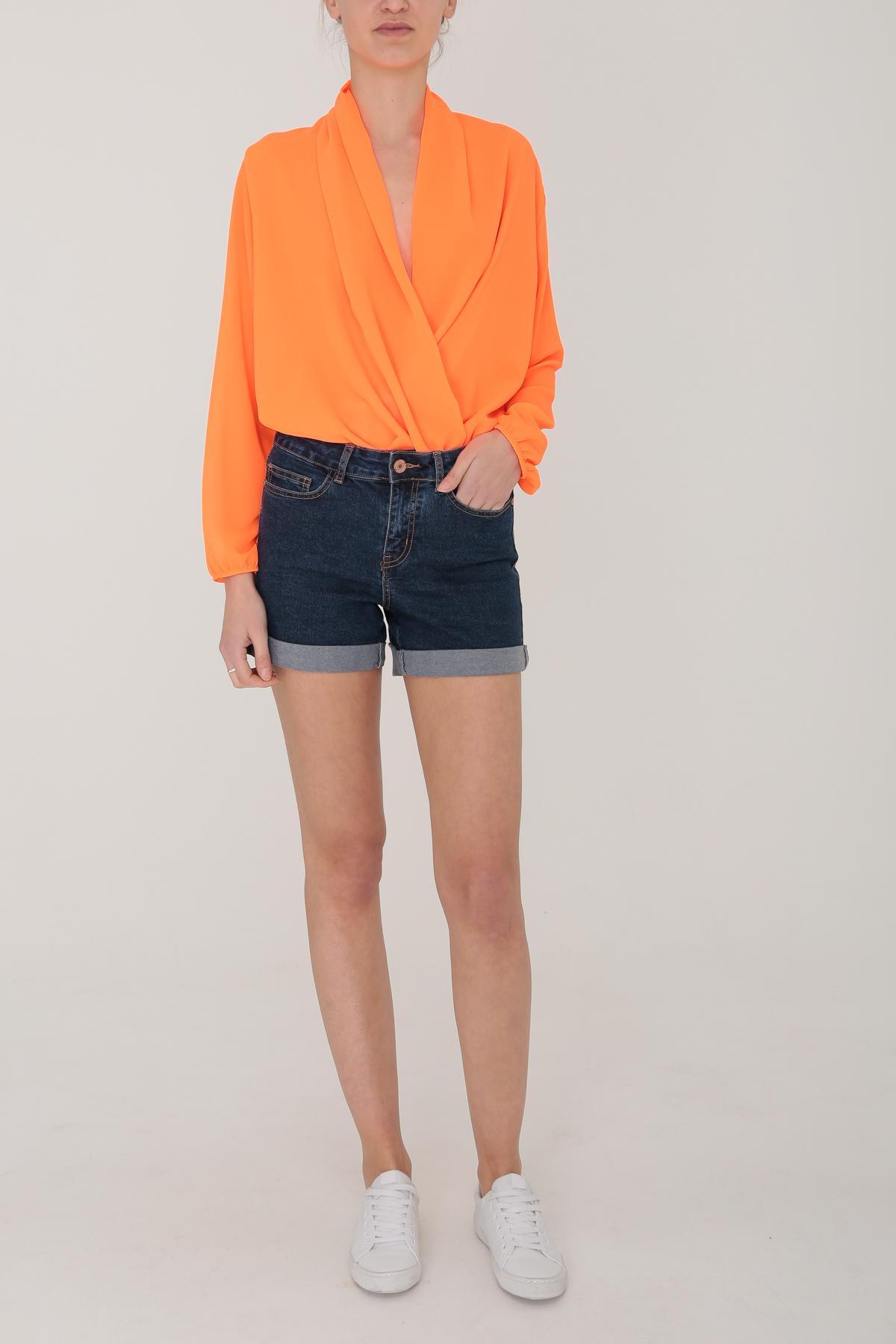 Bodies Femme Orange fluo ELLE STYLE 71002 #c eFashion Paris