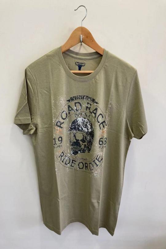 T-shirts Homme Beige CITY DESIGN LAS VEGAS eFashion Paris