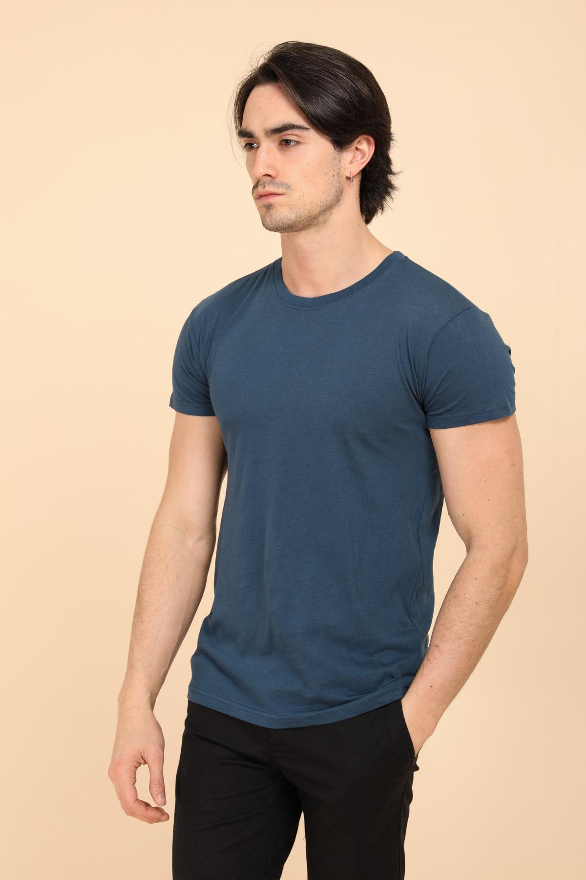 T-shirts Homme Bleu CITY DESIGN TS801 #c eFashion Paris