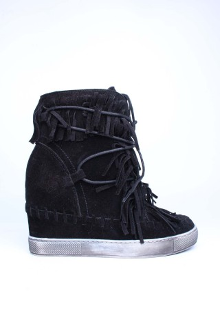 Baskets Chaussures Noir Girlhood L08-10 eFashion Paris