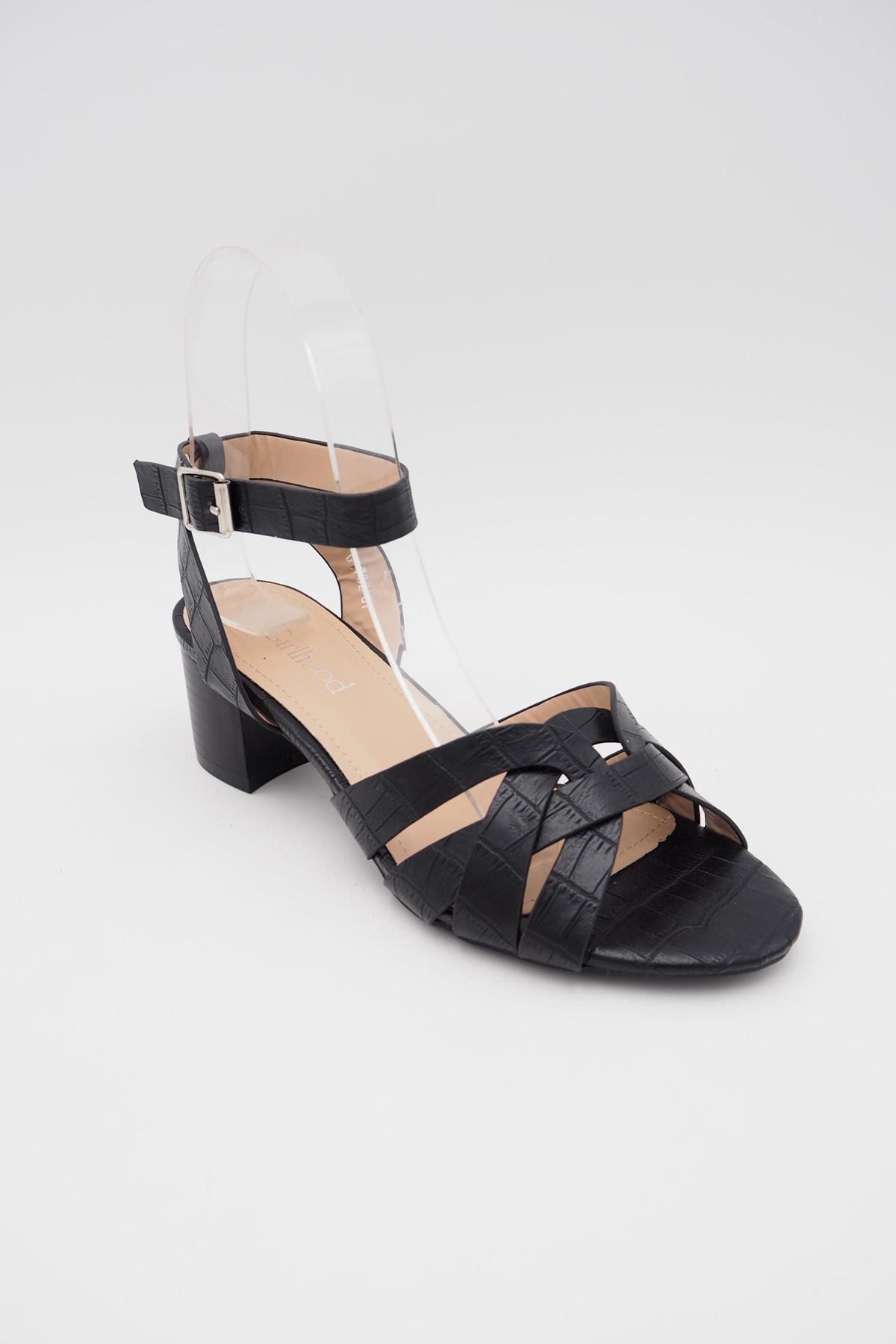 Sandales Chaussures Noir Girlhood G1782 #c eFashion Paris