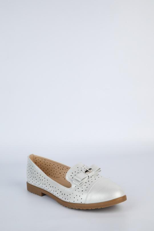 Mocassins Chaussures Argent Laura Mode W170 eFashion Paris