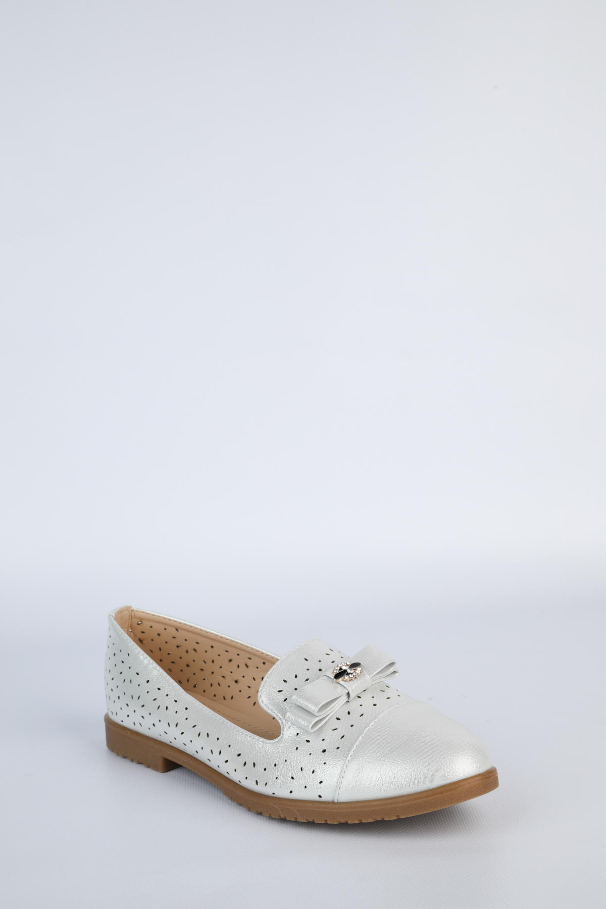 Mocassins Chaussures Argent Laura Mode W170 #c eFashion Paris