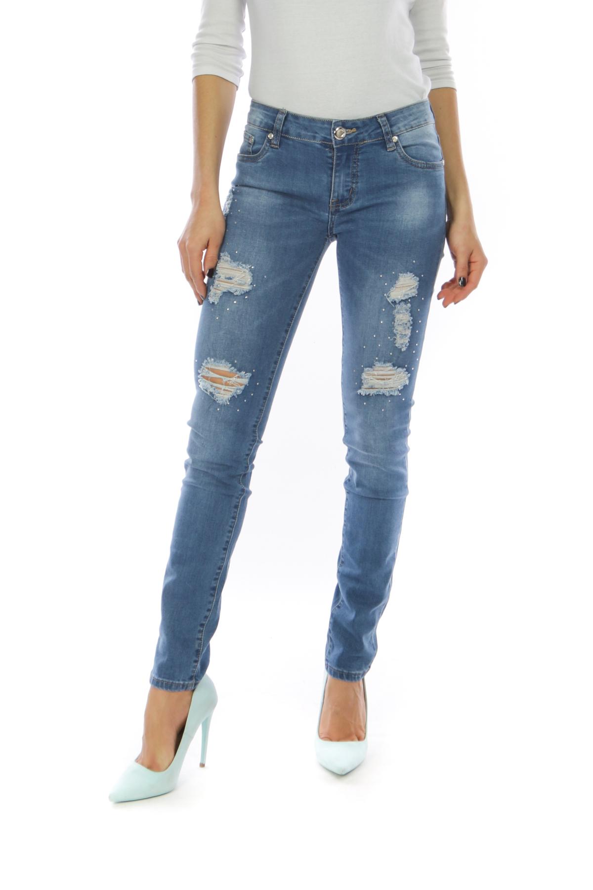 Jeans Femme B1211-BLEU G&L