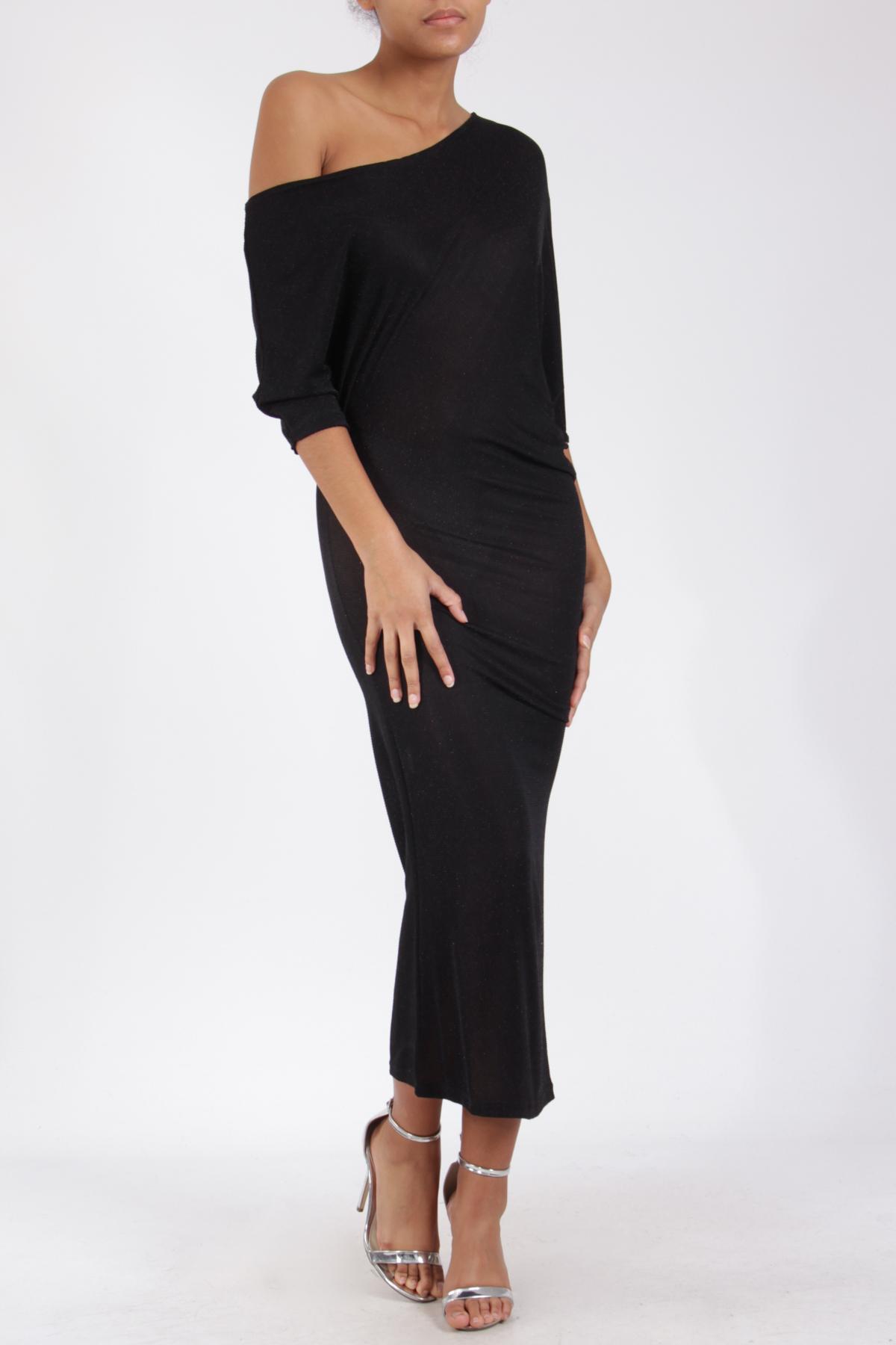 Robes longues Femme K2016-NOIR BRILLANT TROIS KA