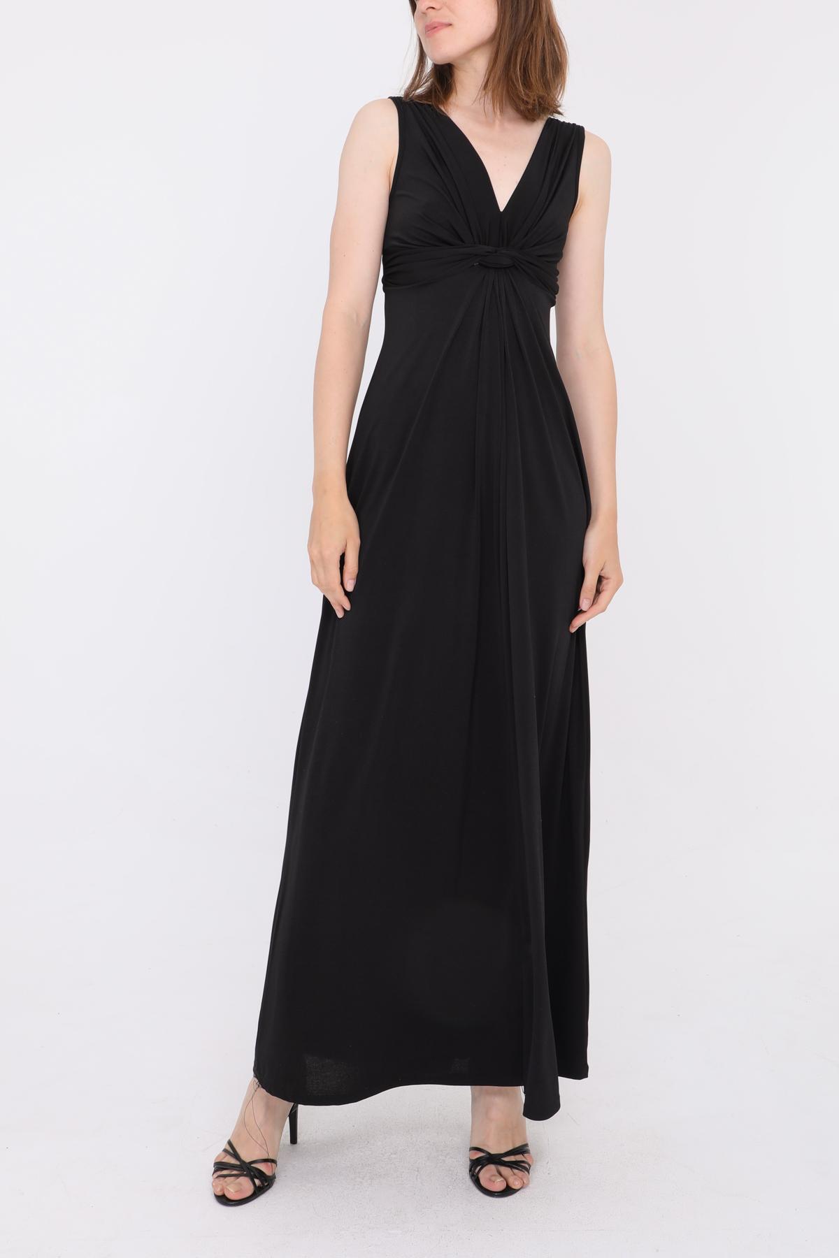 Robes longues Femme Noir REVD'ELLE 0209-SARA #c eFashion Paris