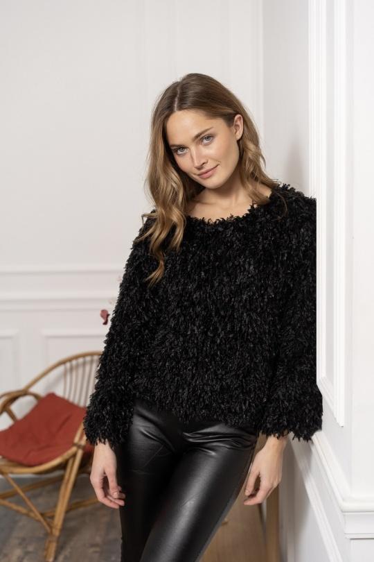 blouse noir chic femme choklate marque 80888