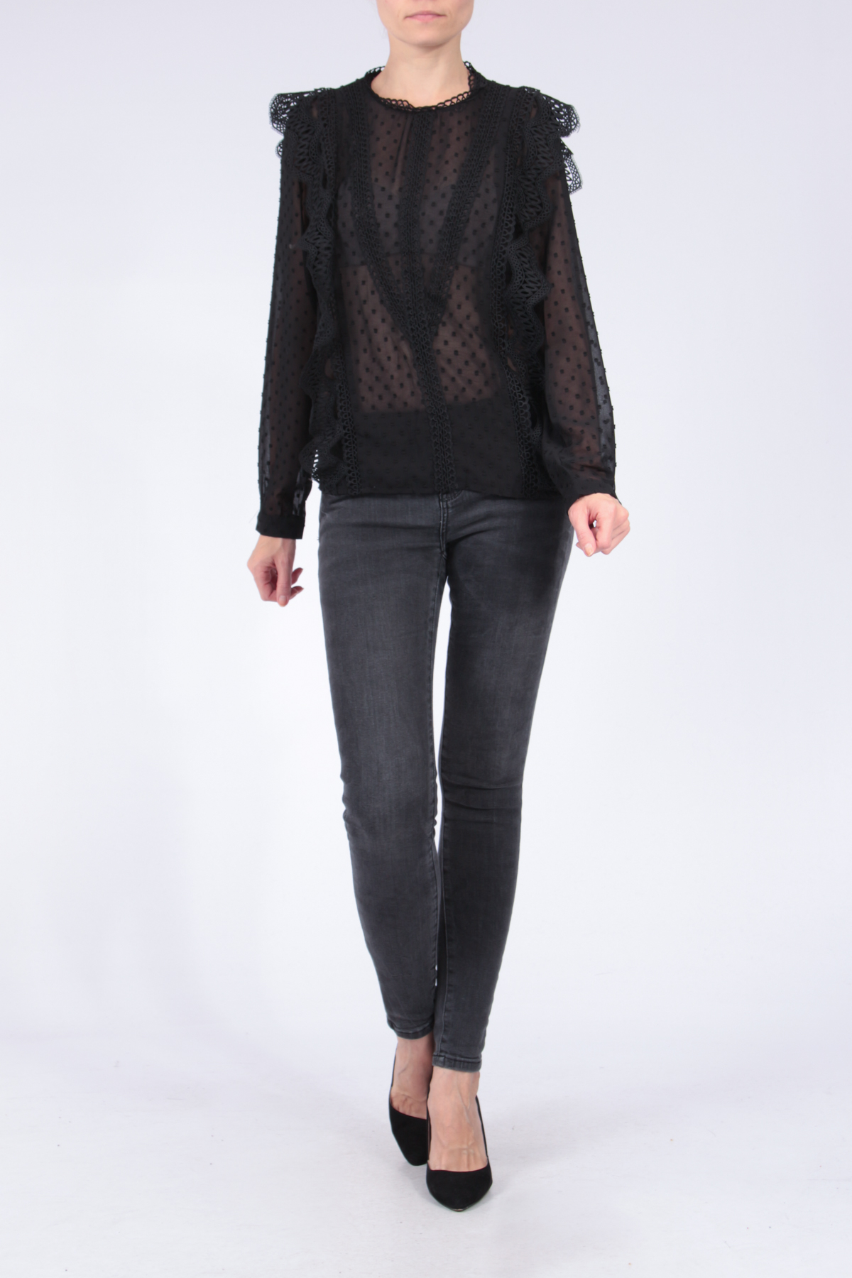 Blouses Femme Noir Choklate 80863-1 #c eFashion Paris
