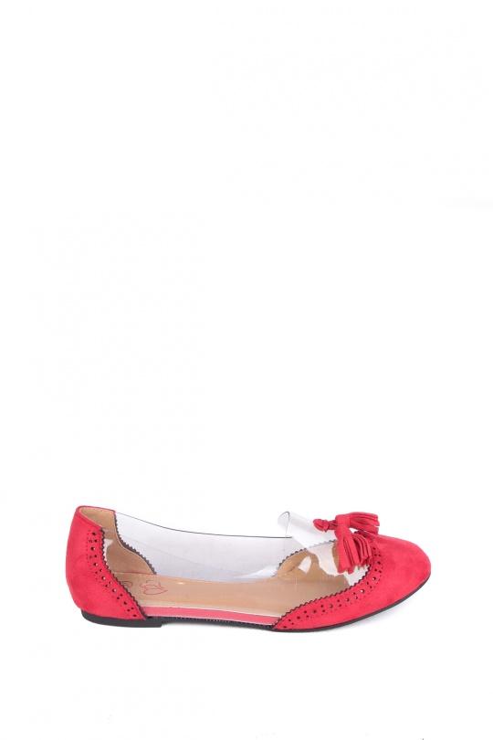 Ballerines Chaussures Rouge WILEDI 617-1 eFashion Paris