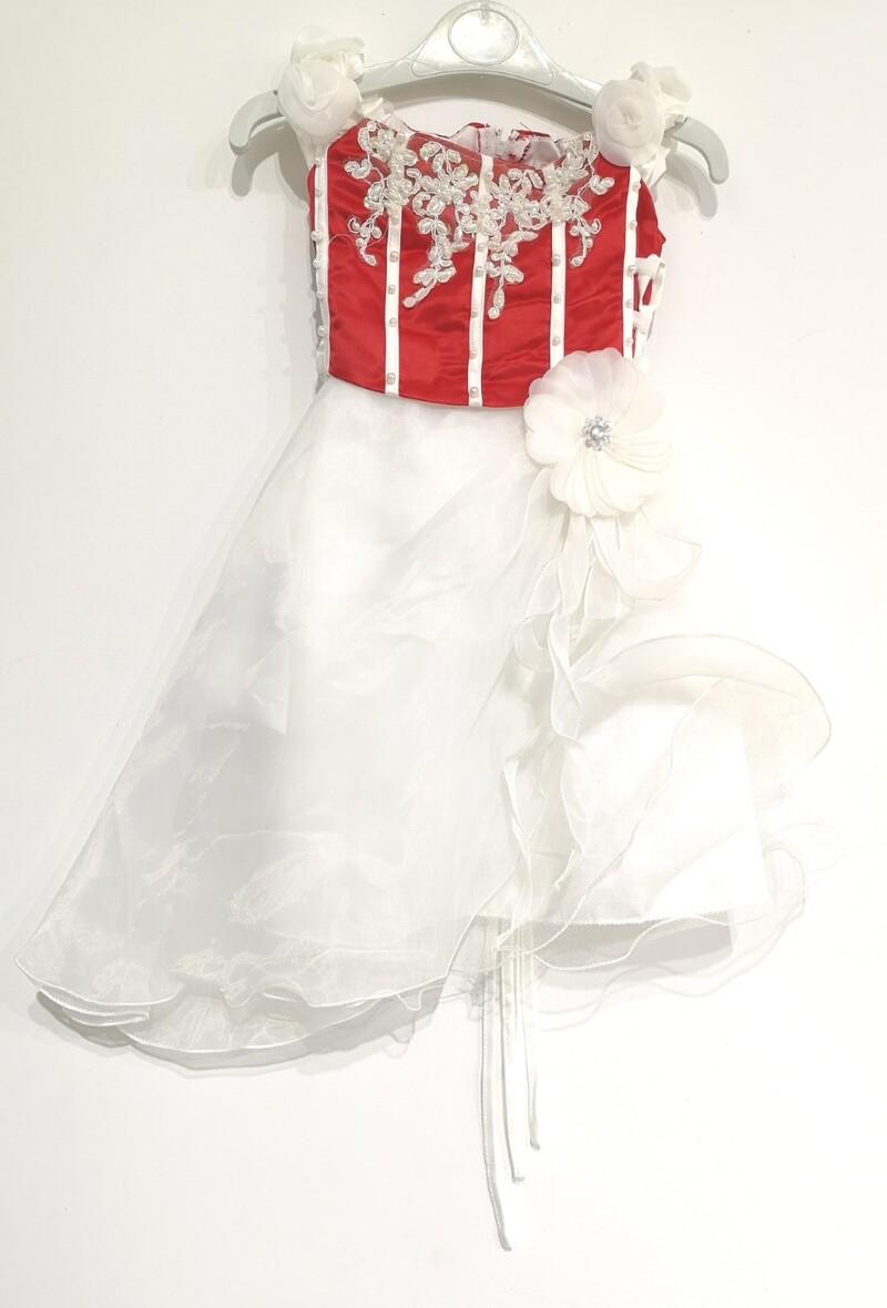 Robes Enfant Rouge Les Voiliers 902BICOLORE #c eFashion Paris