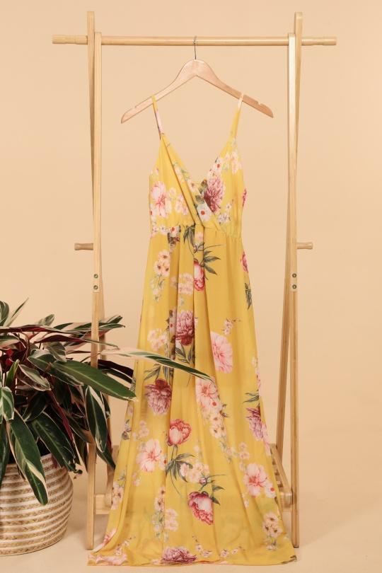Robes longues Femme Moutarde ESTEE BROWN 8947-10 eFashion Paris
