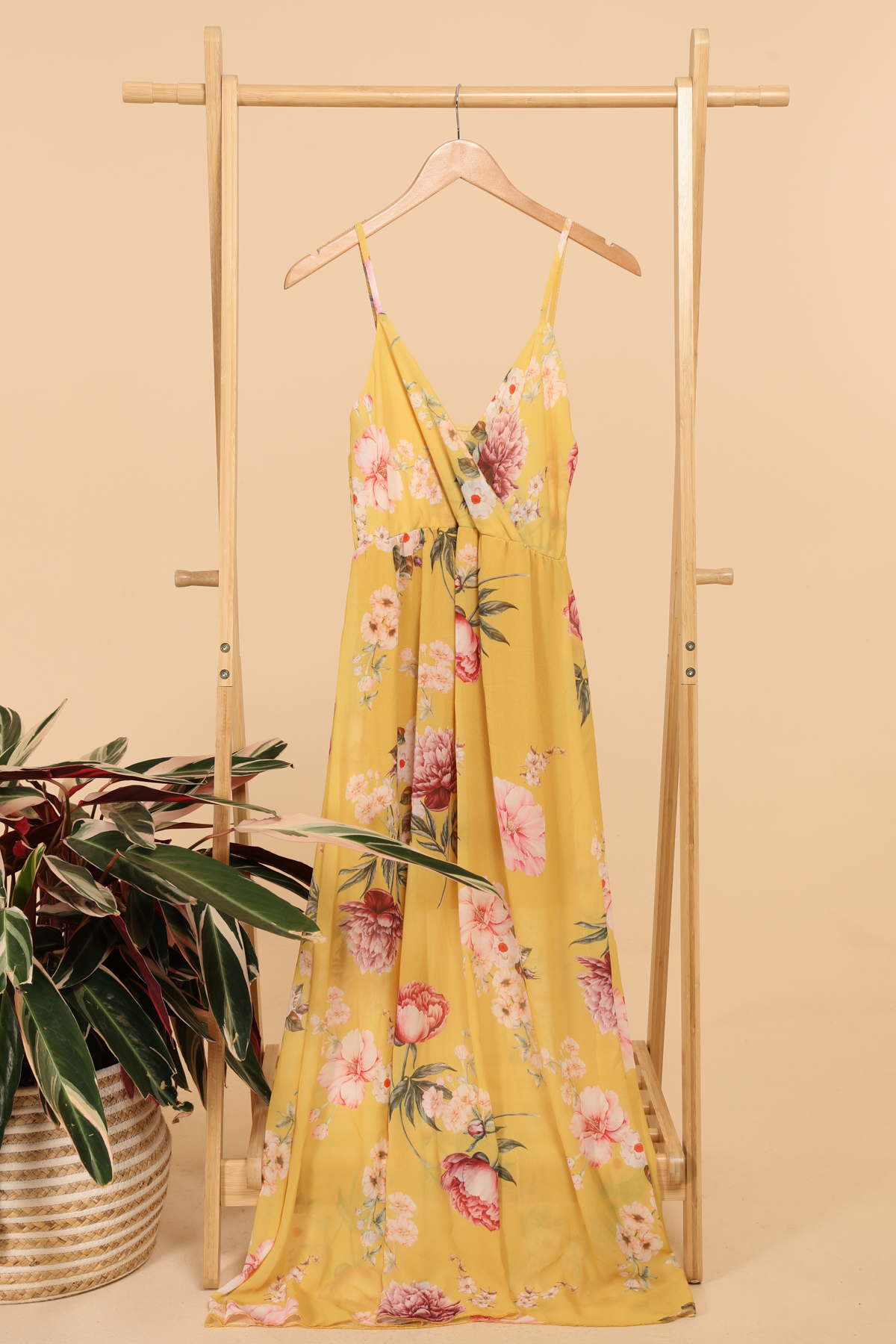 Robes longues Femme Moutarde ESTEE BROWN 8947-10 #c eFashion Paris