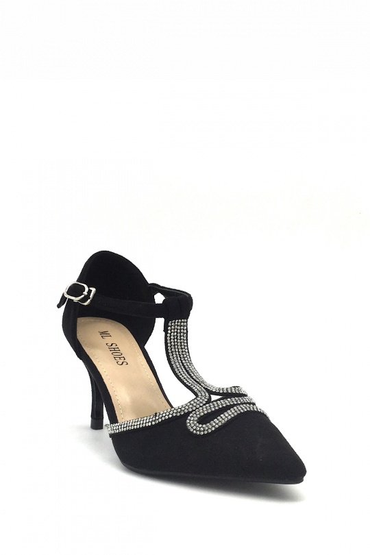 Escarpins Chaussures Noir ML SHOES FA-96 eFashion Paris