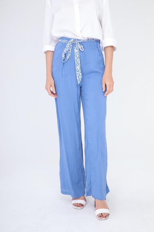 Pantalons Femme Bleu v.code P5291 eFashion Paris