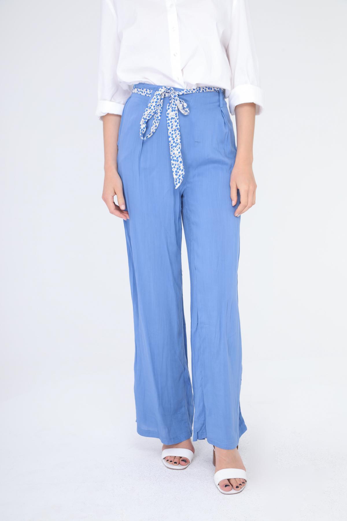 Pantalons Femme Bleu v.code P5291 #c eFashion Paris