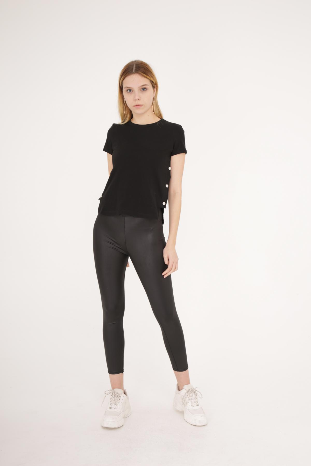 T-shirts Femme Noir NATHAEL  B875 #c eFashion Paris