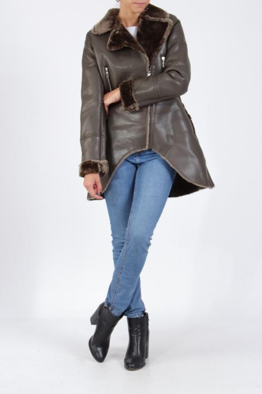 Vests Women Khaki ATTENTIF V1864  c eFashion Paris 9d89fb36896