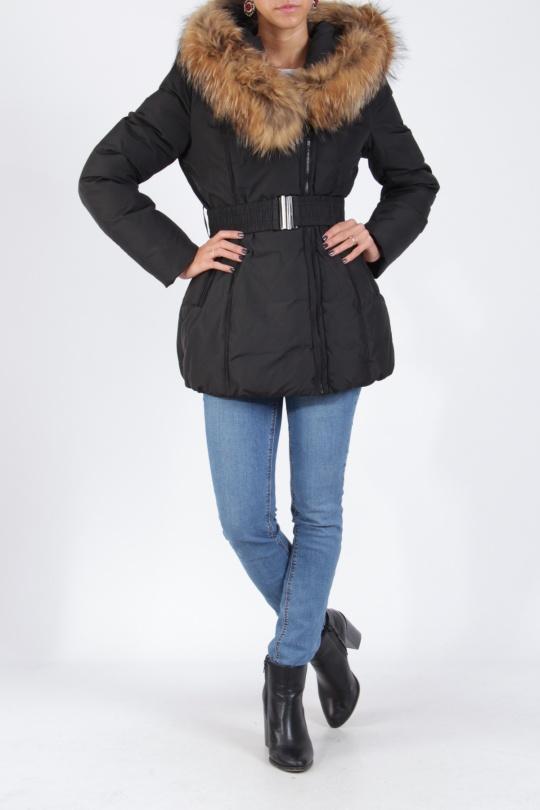 Down jackets Women Black ATTENTIF PK1849  c eFashion Paris fd9b0f12381