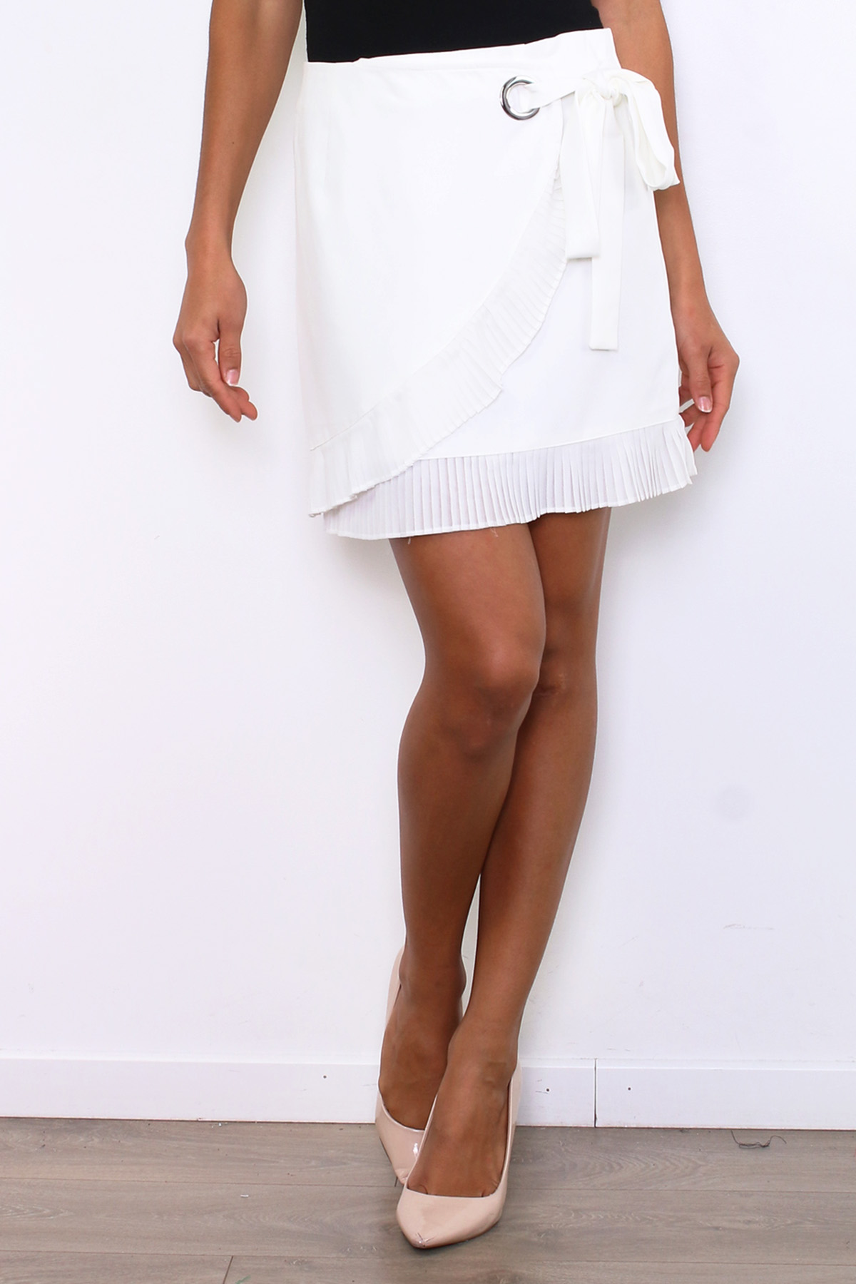 Jupes Femme Blanc ATTENTIF R239 #c eFashion Paris