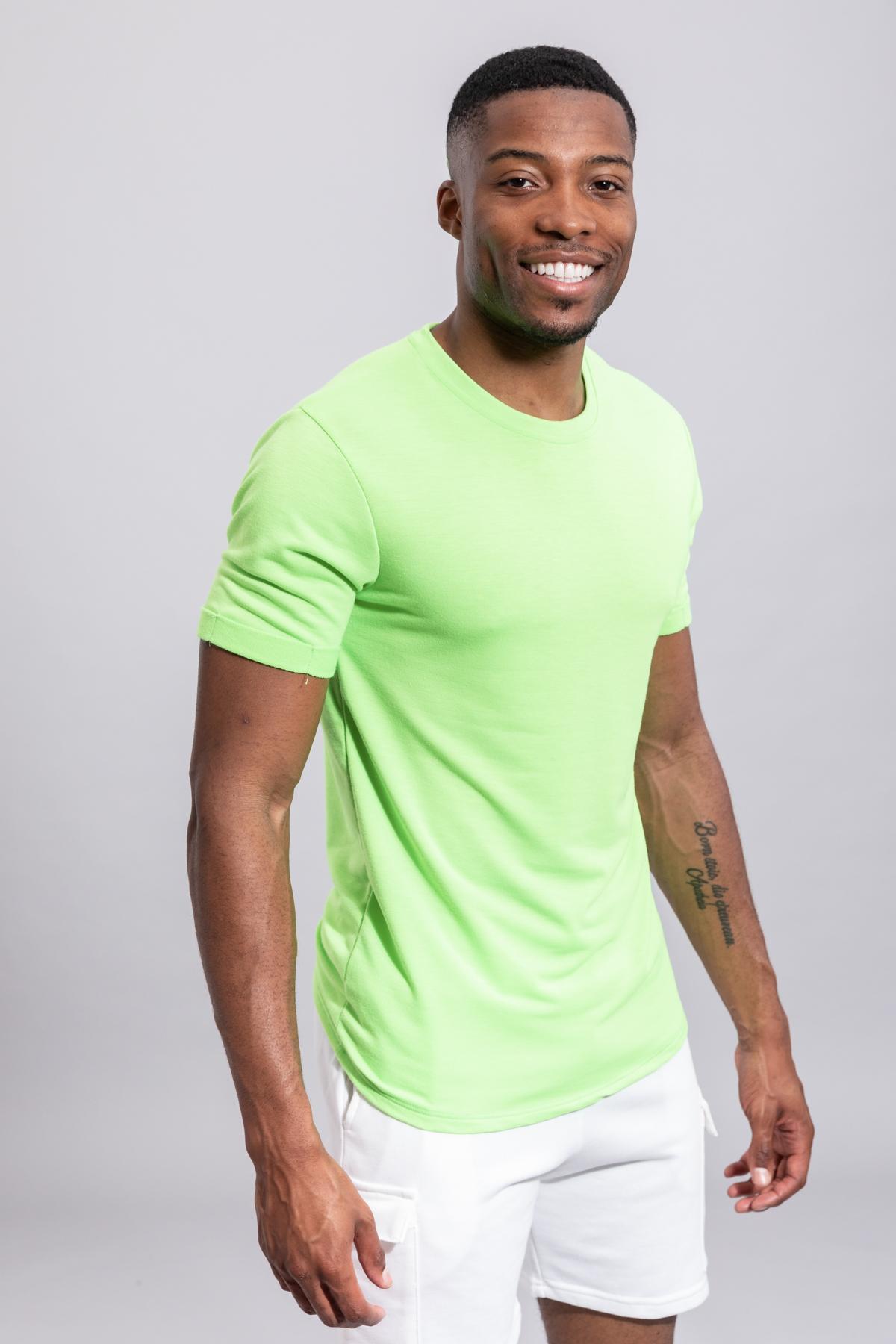 T-shirts Homme Vert FRILIVIN 13817 #c eFashion Paris