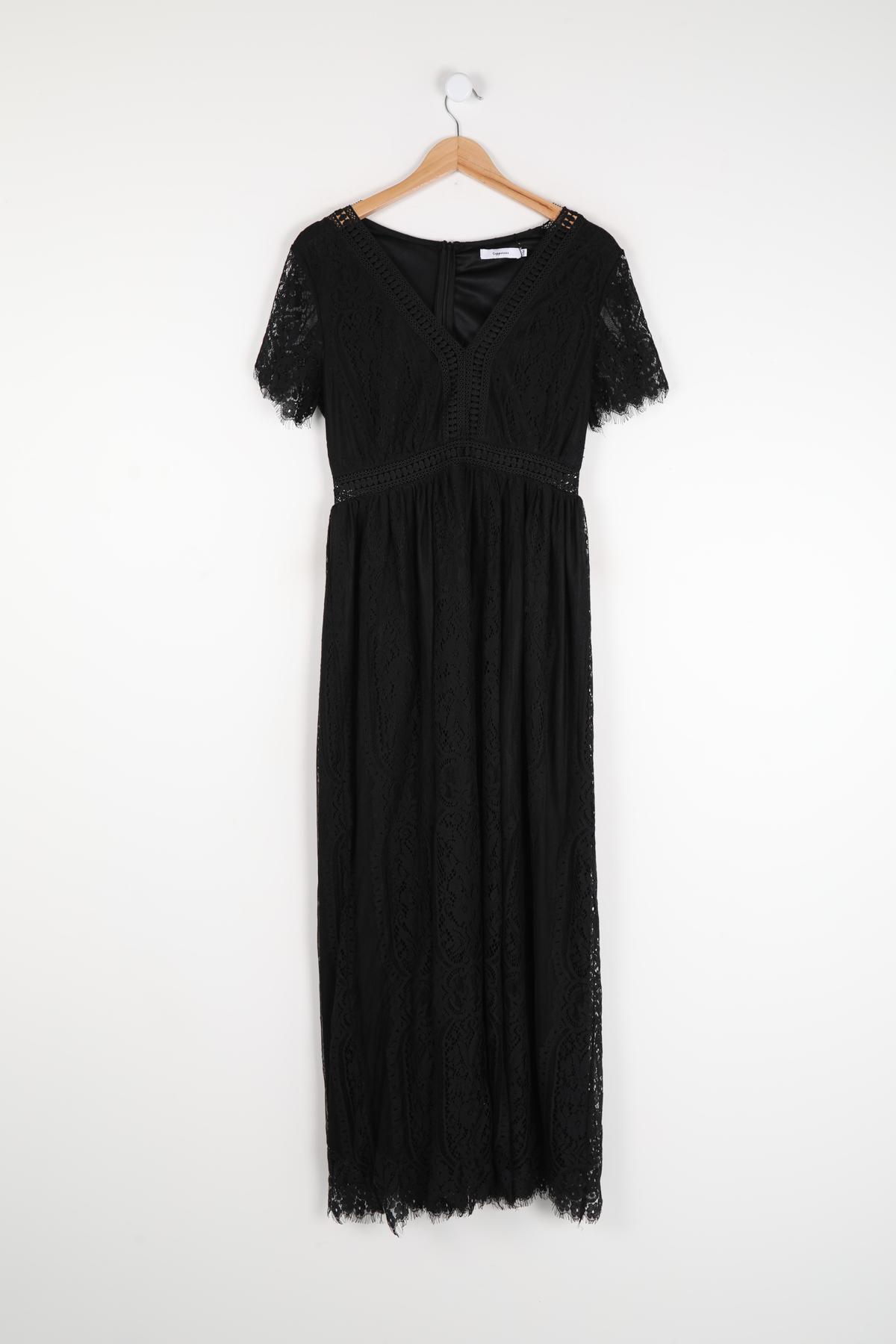 Robes longues Femme Noir COPPEROSE MP5100 #c eFashion Paris