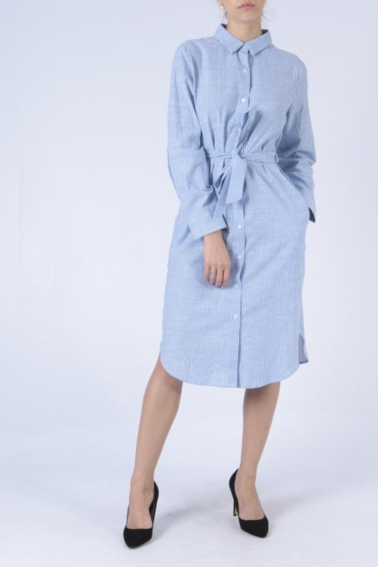 Robes mi-longues Femme Bleu Sophyline 8054 eFashion Paris