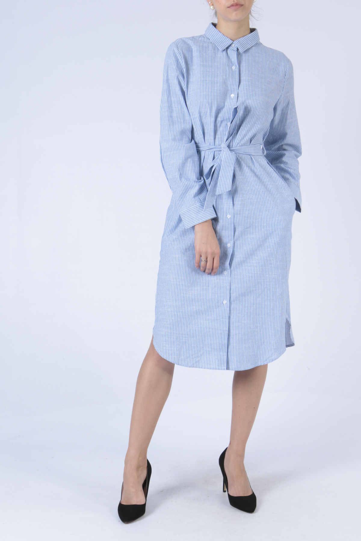 Robes mi-longues Femme Bleu Sophyline 8054 #c eFashion Paris