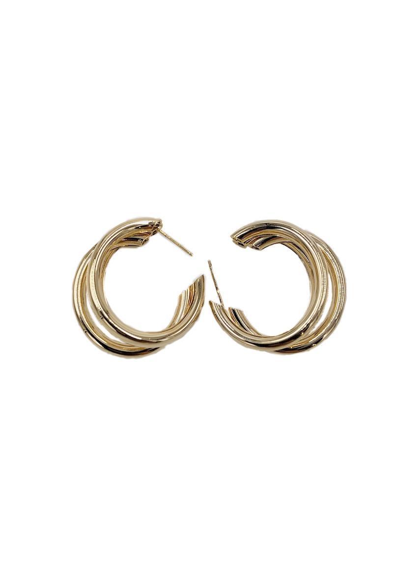 Boucles d'oreilles Accessoires Or OWL BY LIN 19145 #c eFashion Paris
