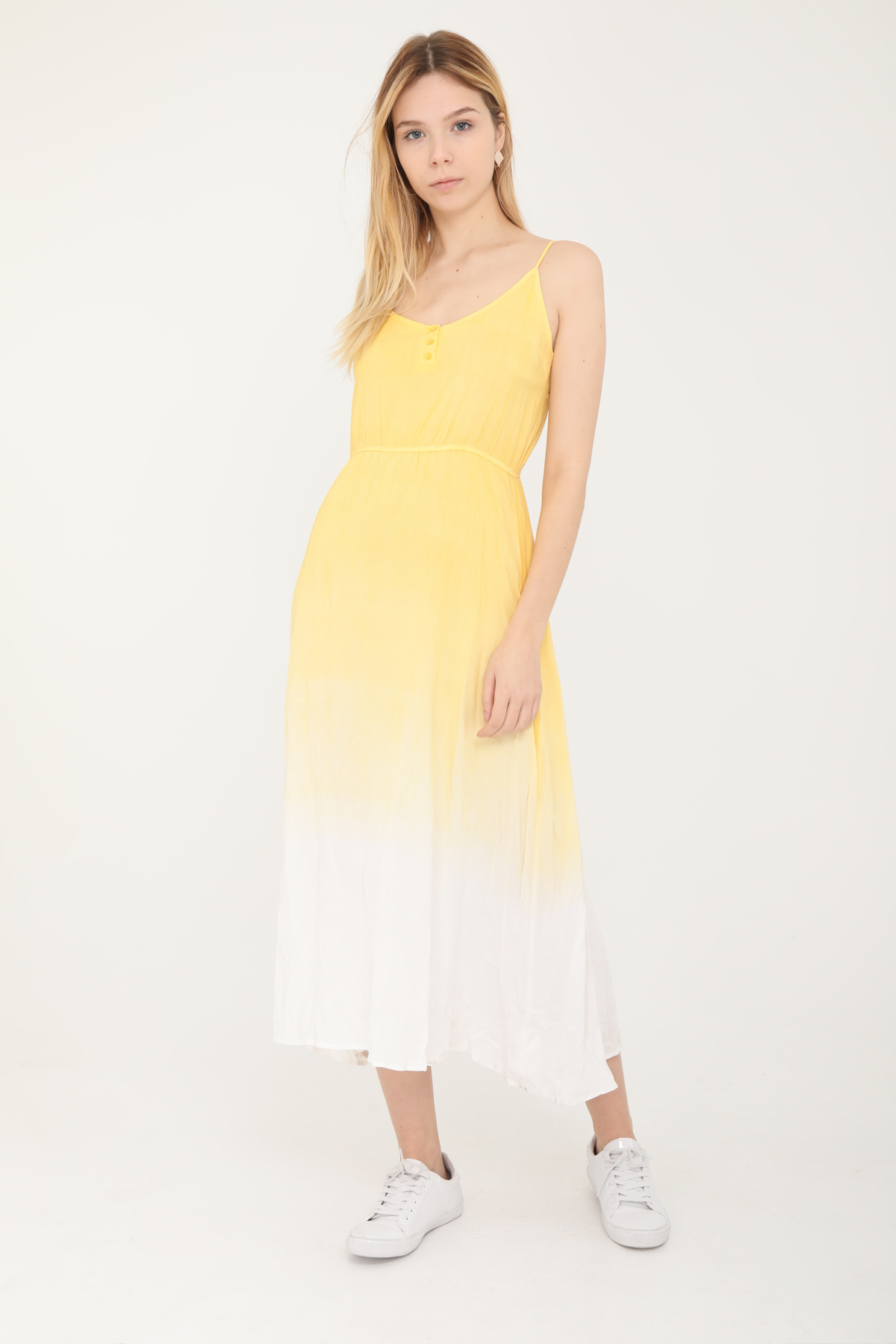 Robes longues Femme Moutarde SWEEWE 37124 #c eFashion Paris