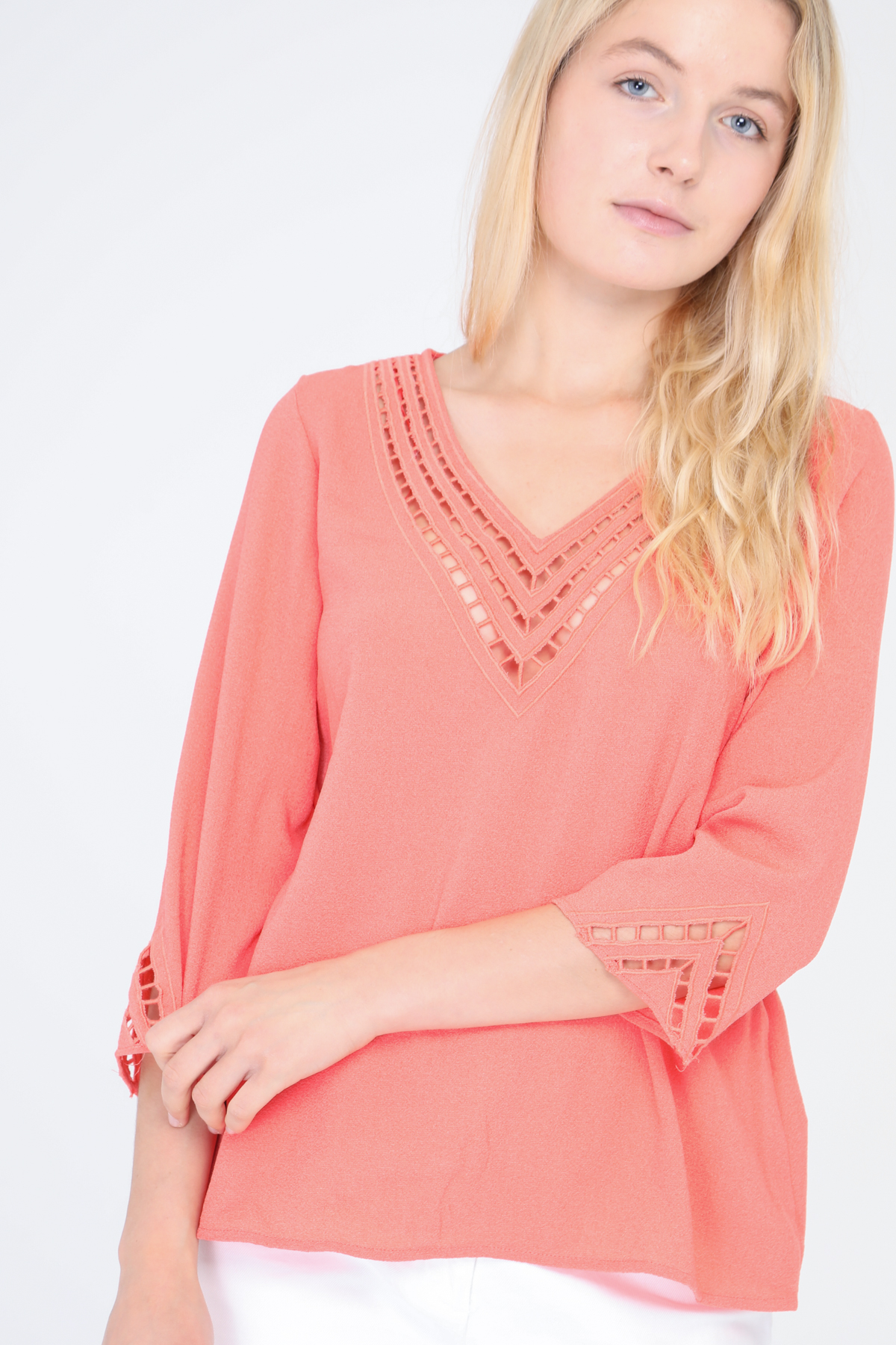 Blouses Femme Corail SWEEWE 31595 #c eFashion Paris